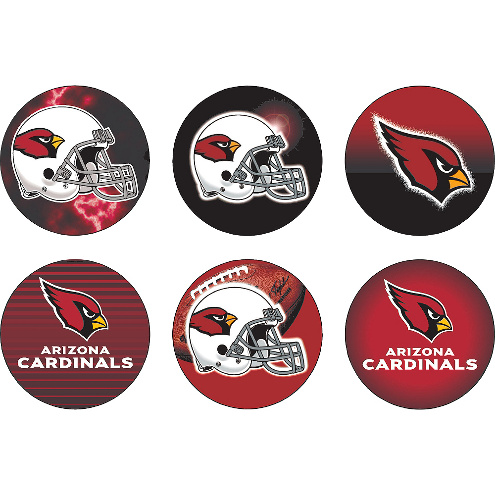 Arizona Cardinals Buttons 6ct Image #1