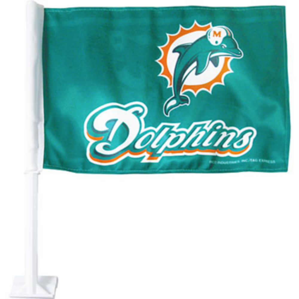 Miami Dolphins Car Flag Image #1