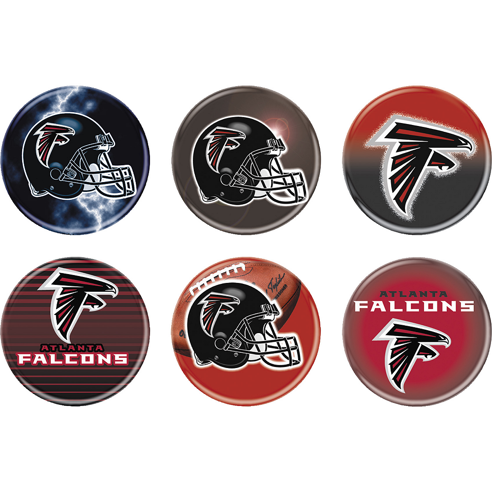 Atlanta Falcons Buttons 6ct Image #1