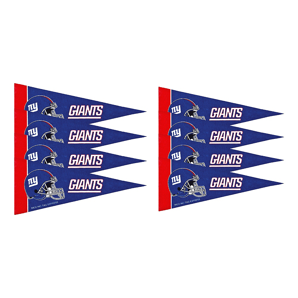 New York Giants Pennants 8ct Image #1