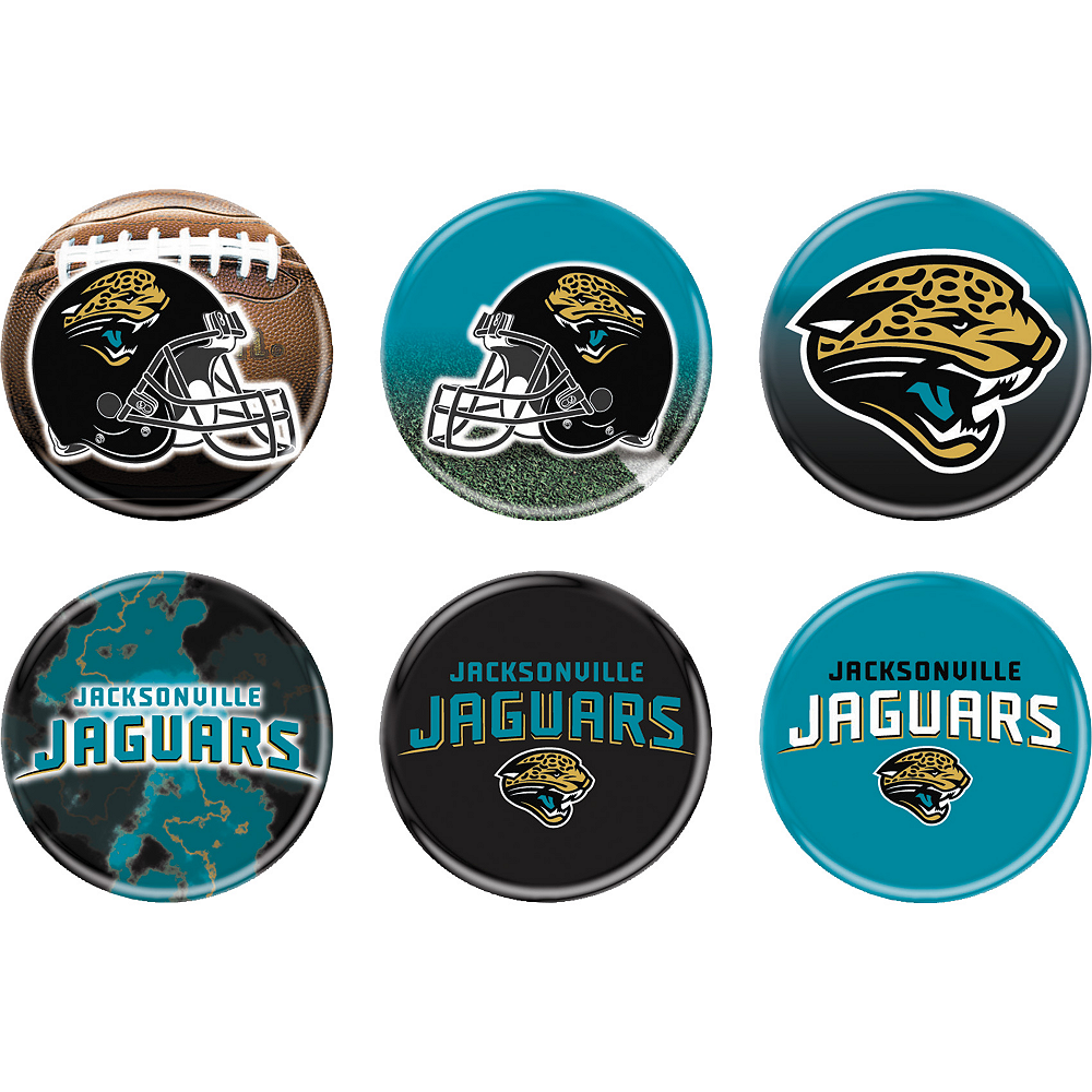 Jacksonville Jaguars Buttons 6ct Image #1
