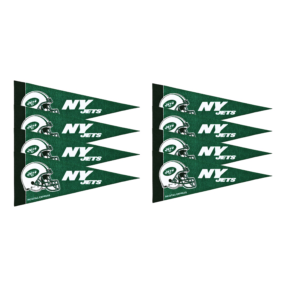 New York Jets Pennants 8ct Image #1