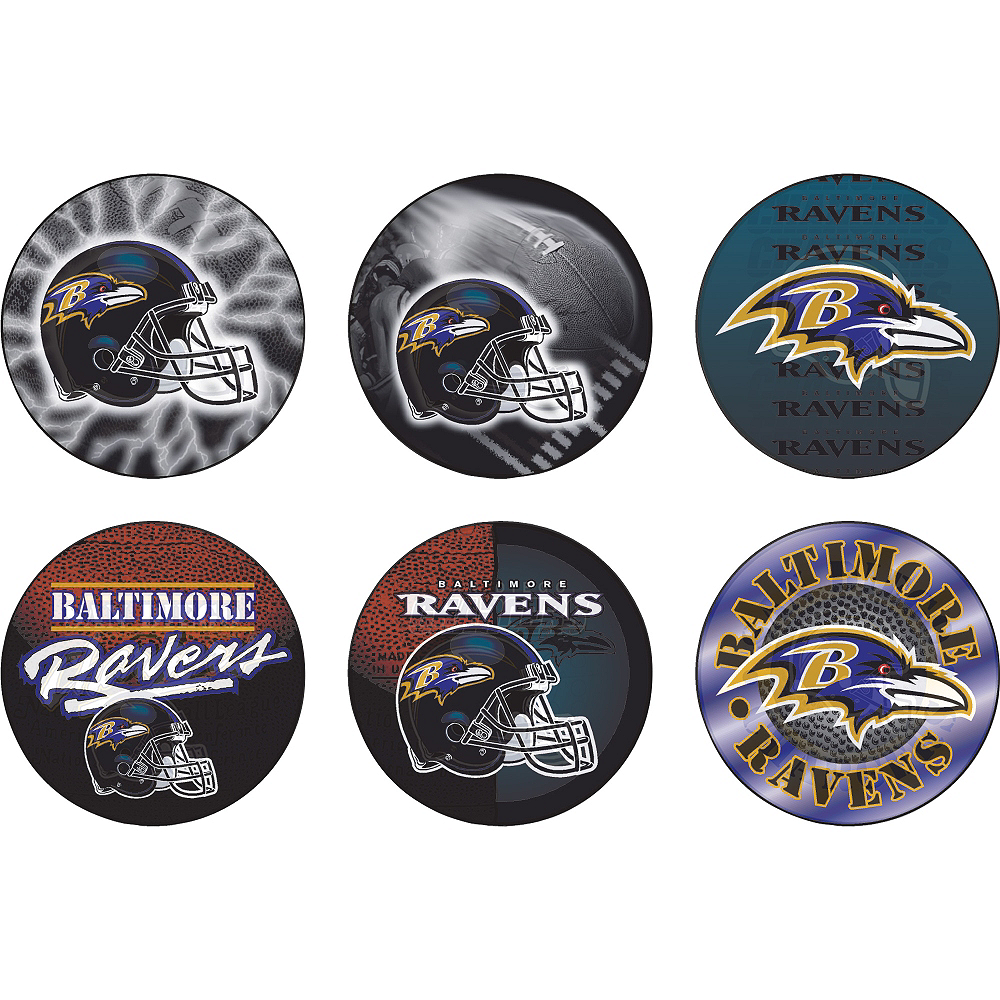 Baltimore Ravens Buttons 6ct Image #1