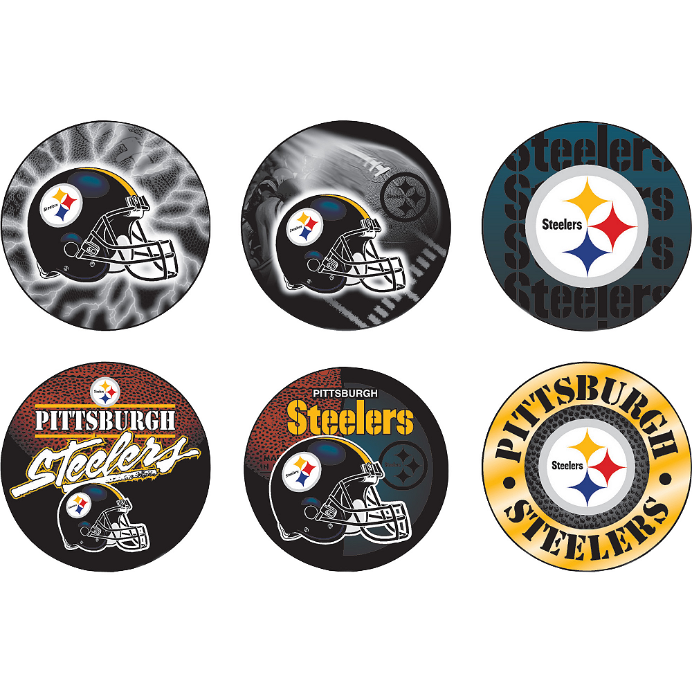 Pittsburgh Steelers Buttons 6ct Image #1
