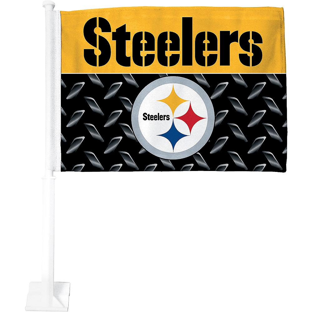 Pittsburgh Steelers Car Flag Image #1