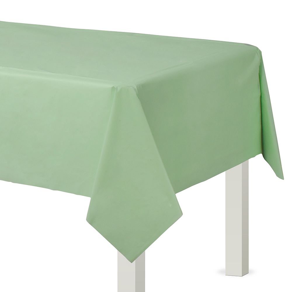 Leaf Green Plastic Table Cover Image #1