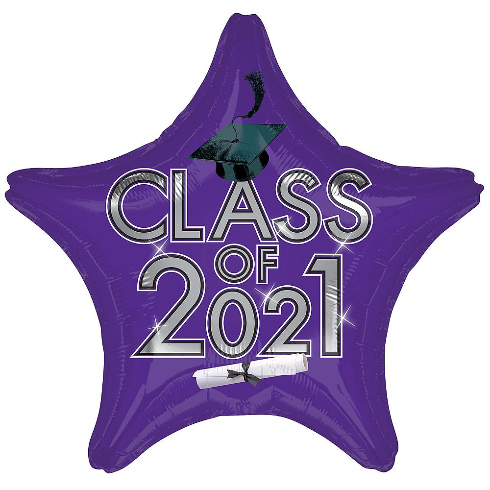 Purple Class of 2020 Graduation Star Balloon, 19in Image #1