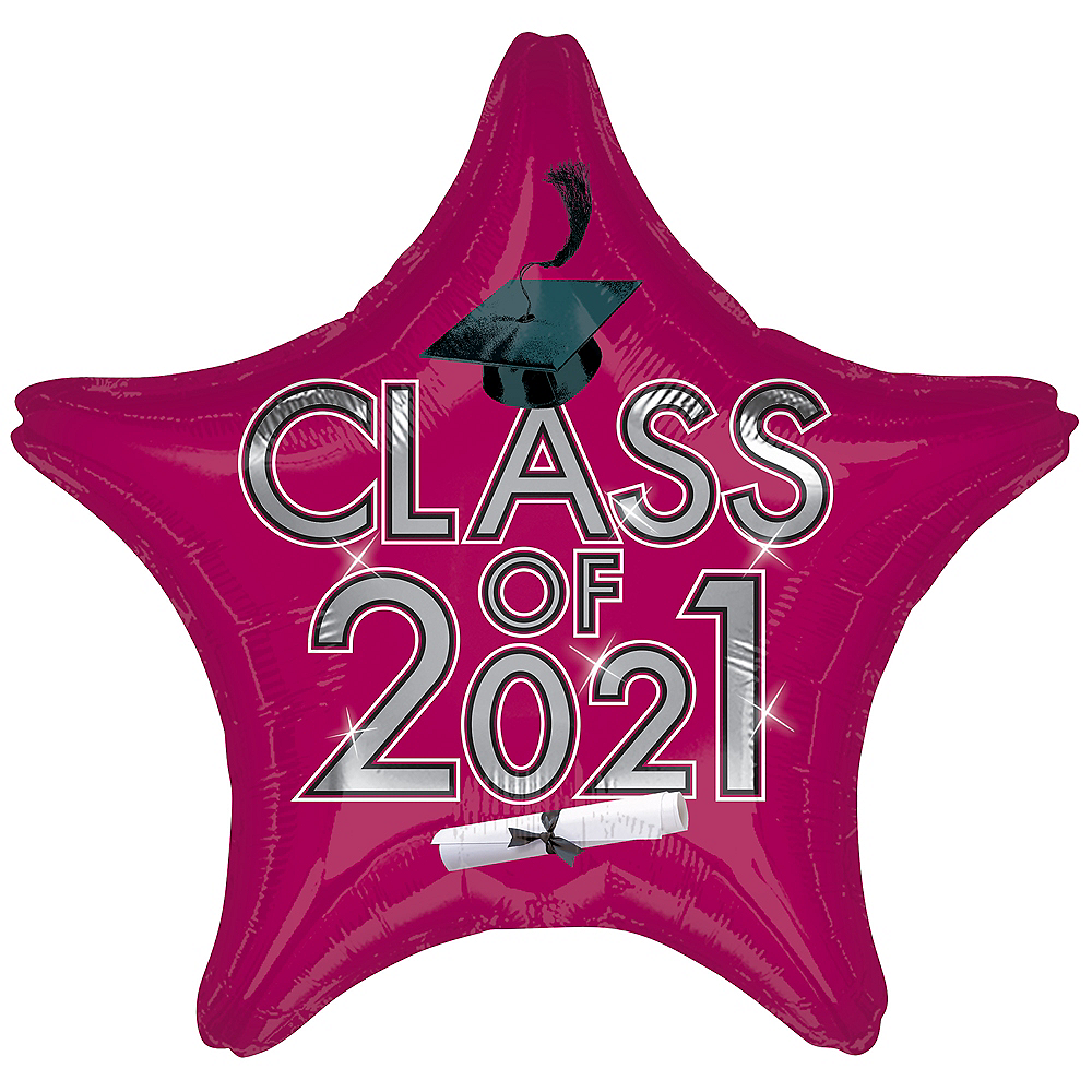 Berry Class of 2020 Graduation Star Balloon, 19in Image #1