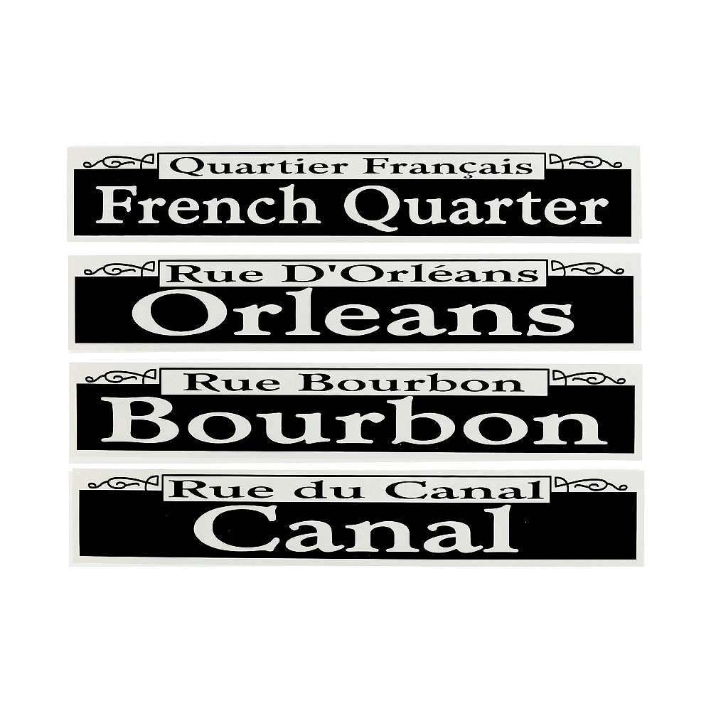 New Orleans Street Signs Cutouts 4ct Image #1