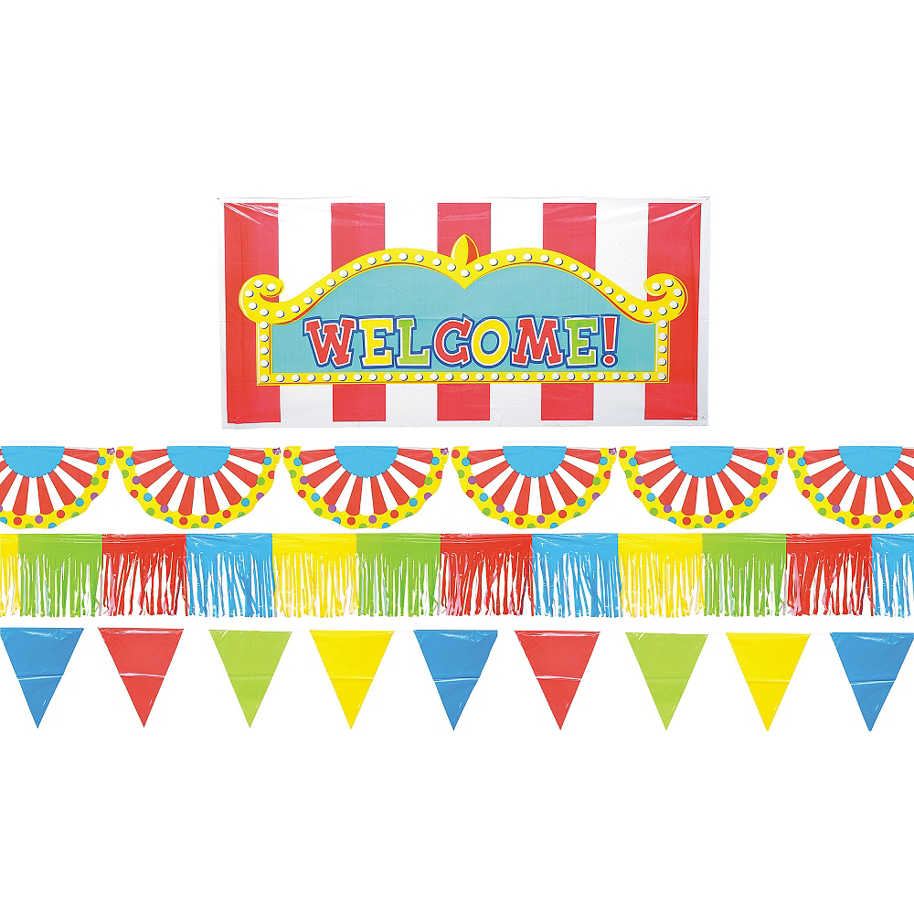 Carnival Outdoor Party Giant Decorating Kit 5pc Image #1