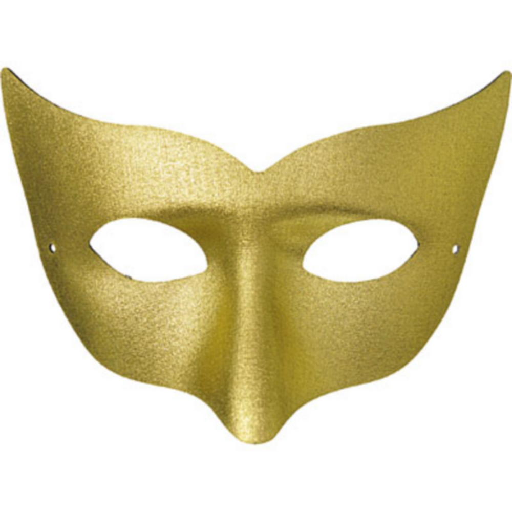 Gold Champagne Masquerade Mask Image #1