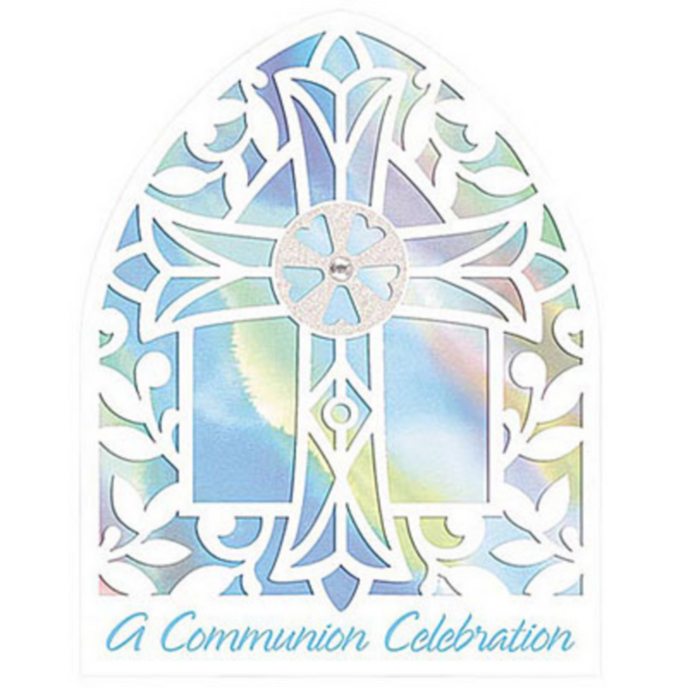 Novelty Blue Communion Invitations 8ct Image #1