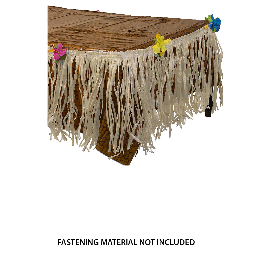 Luau Table Cover Amp Skirt Party City