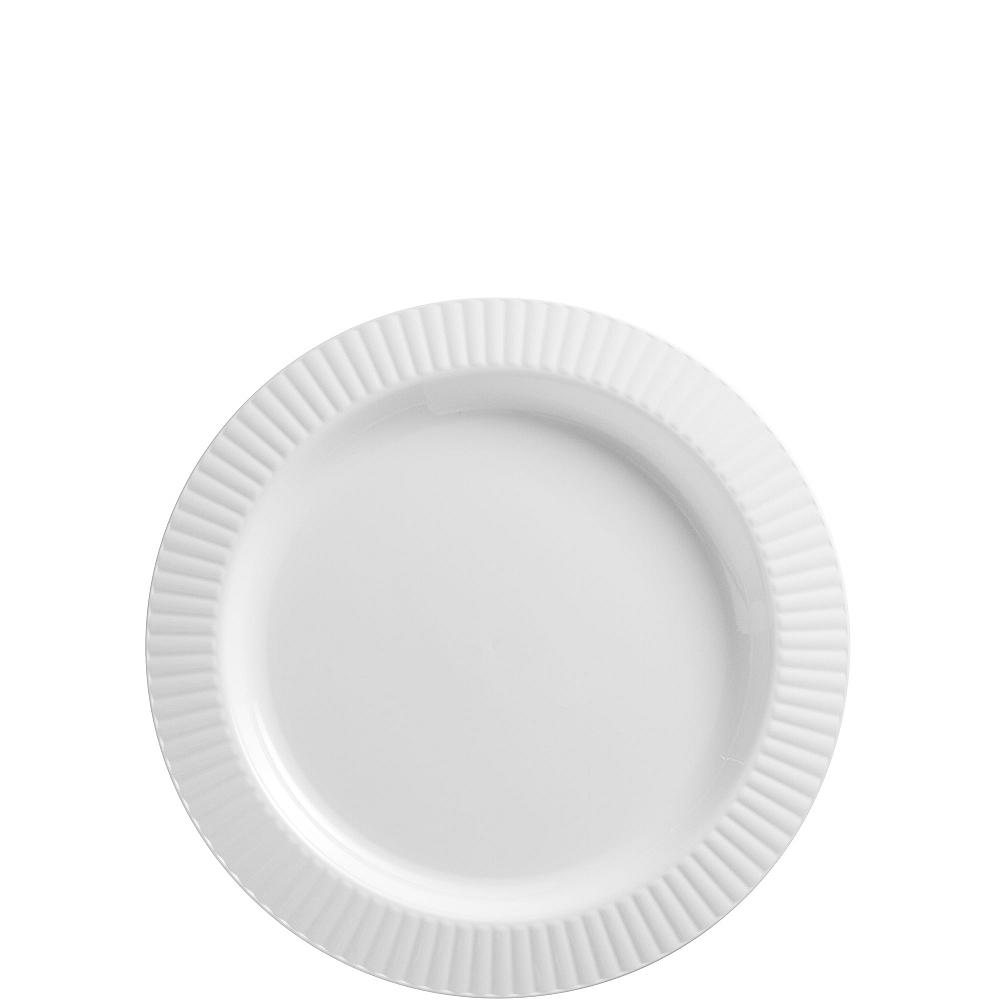 White Premium Plastic Dessert Plates 32ct Image #1