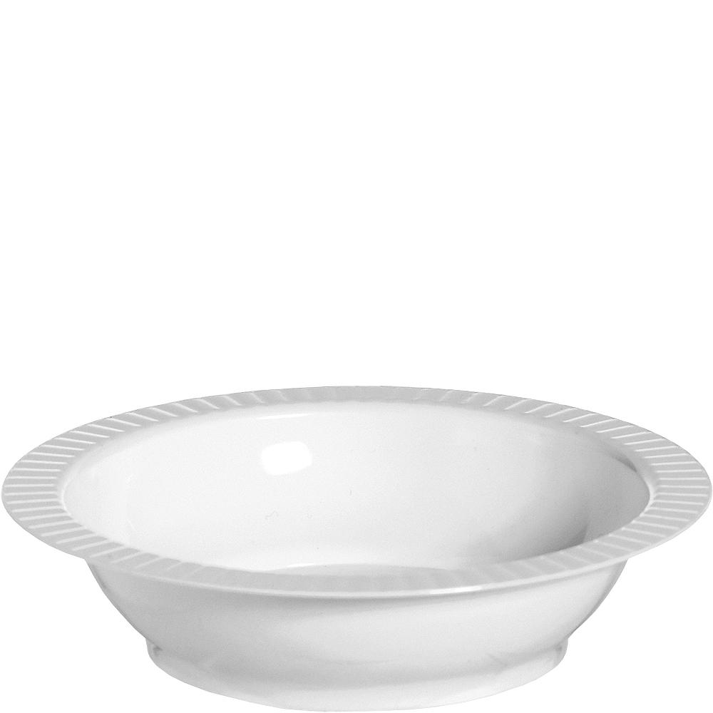 White Premium Plastic Soup Bowls 24ct Image #1