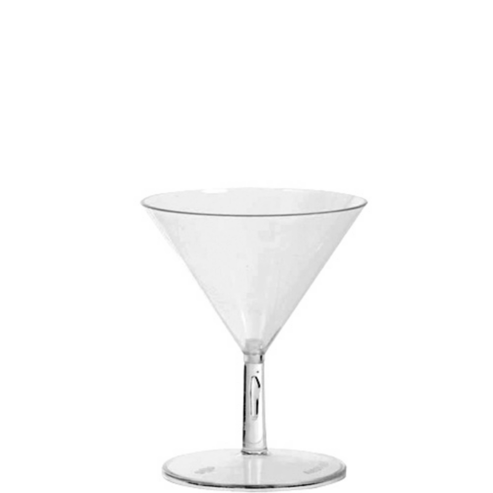 Mini CLEAR Plastic Martini Glasses 20ct Image #1