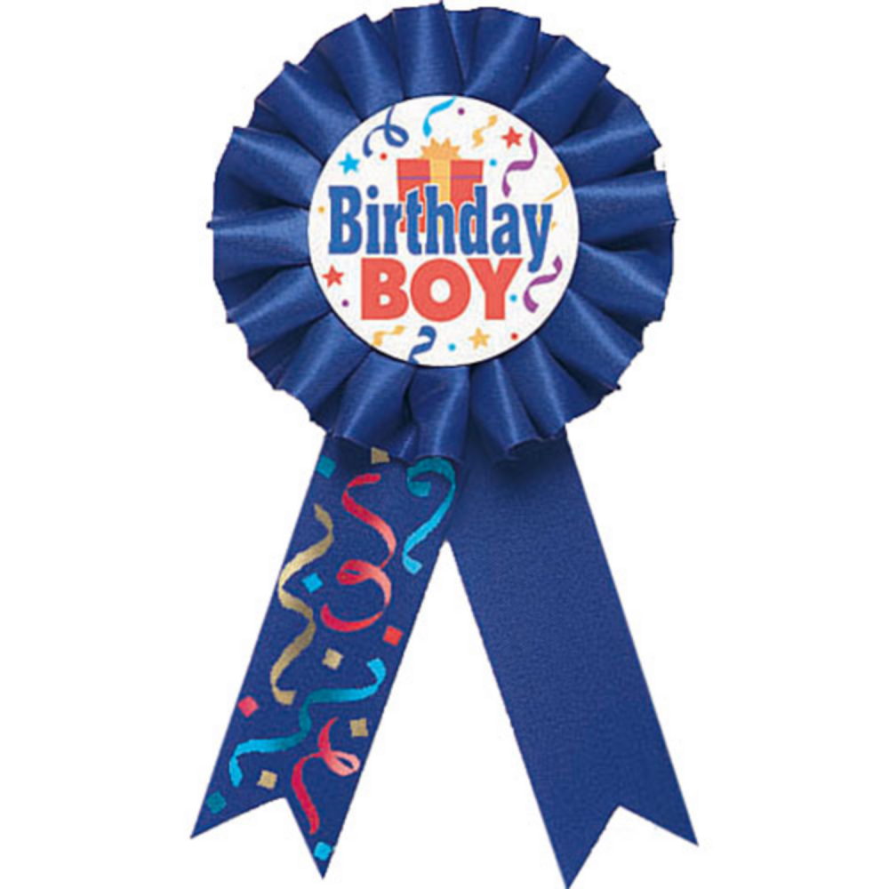 Birthday Boy Award Ribbon Image 1