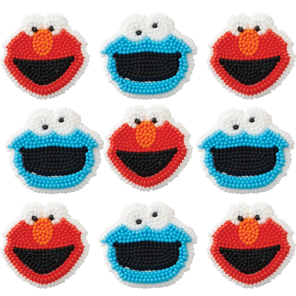 Wilton Sesame Street Icing Decorations 9ct Image #1