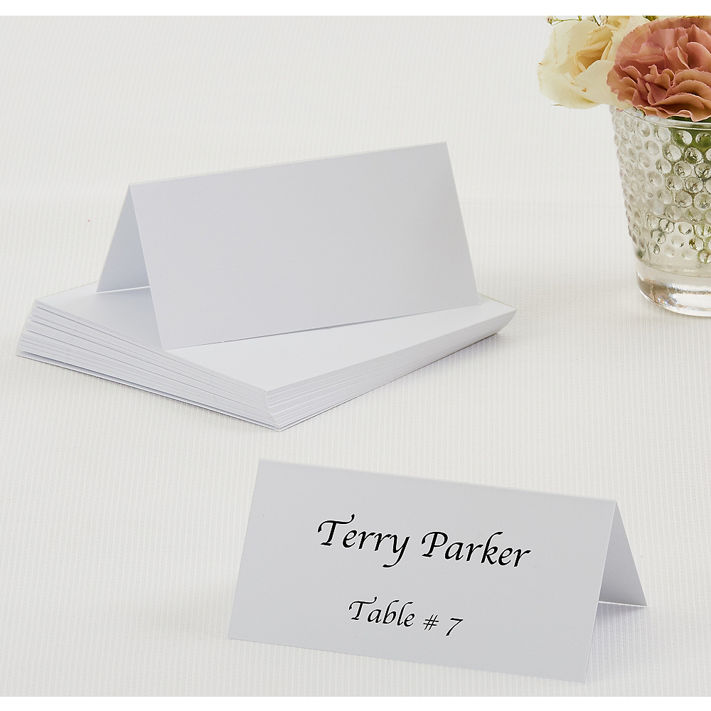 White Place Cards 50ct Image #1