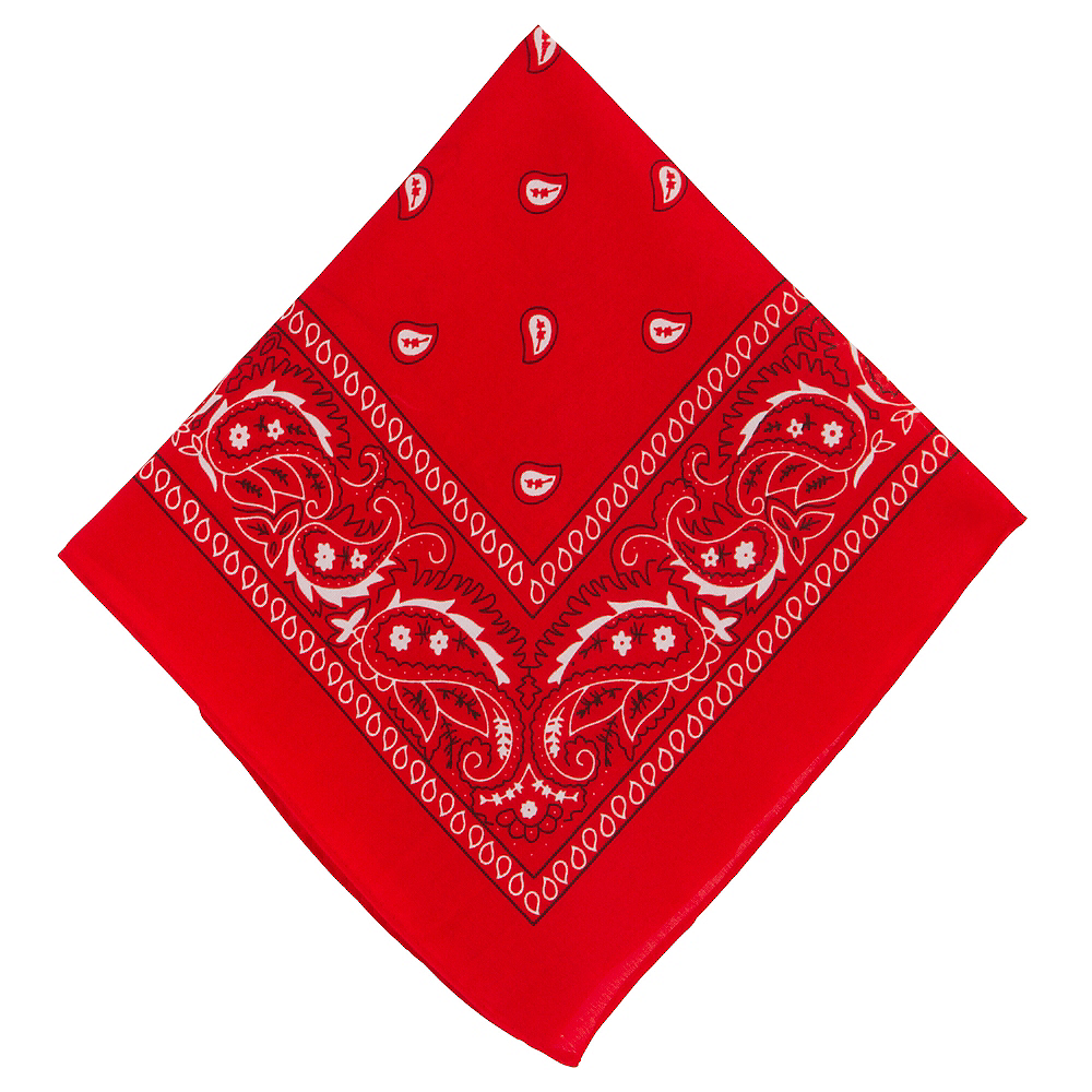 Red Paisley Bandana, 20in x 20in Image #1