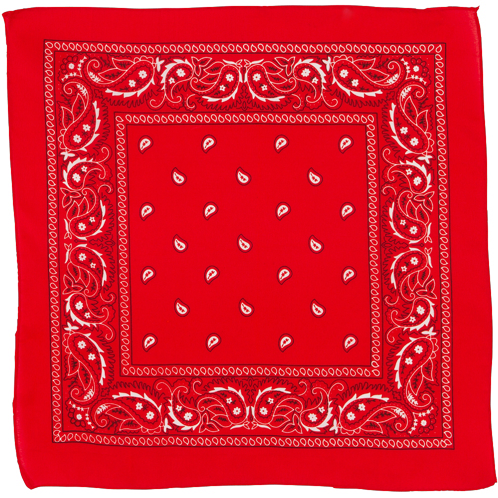 Red Paisley Bandana, 20in x 20in Image #2