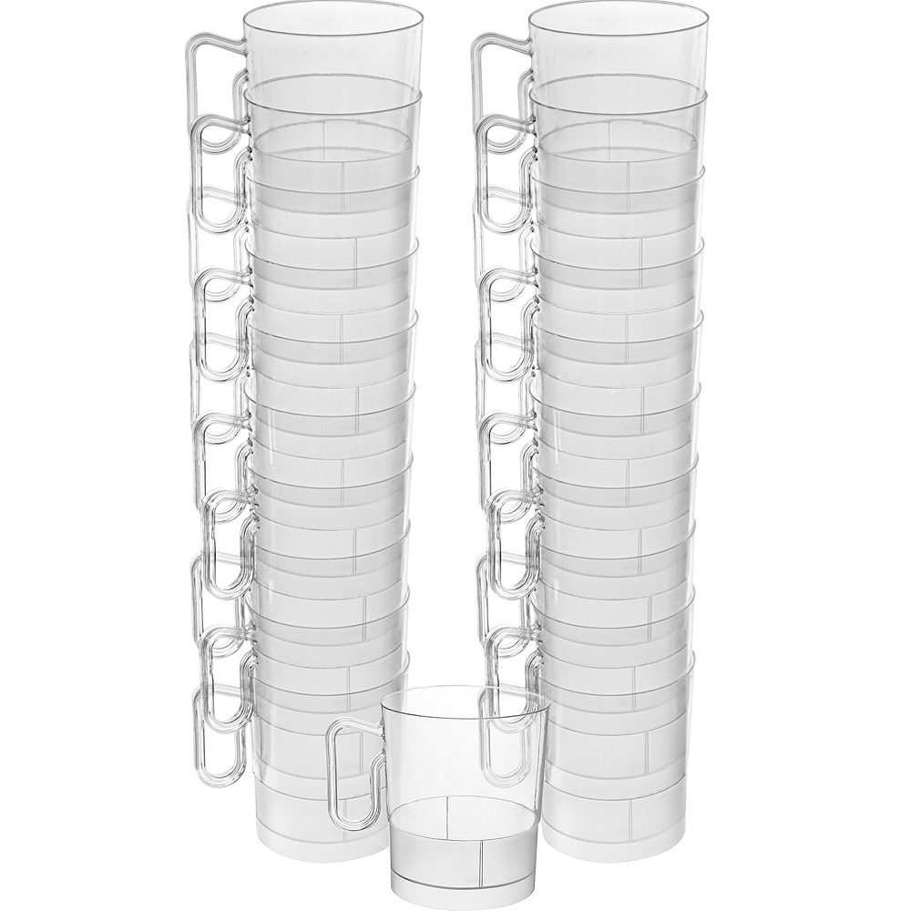 Big Party Pack CLEAR Plastic Coffee Mugs 20ct Image #1