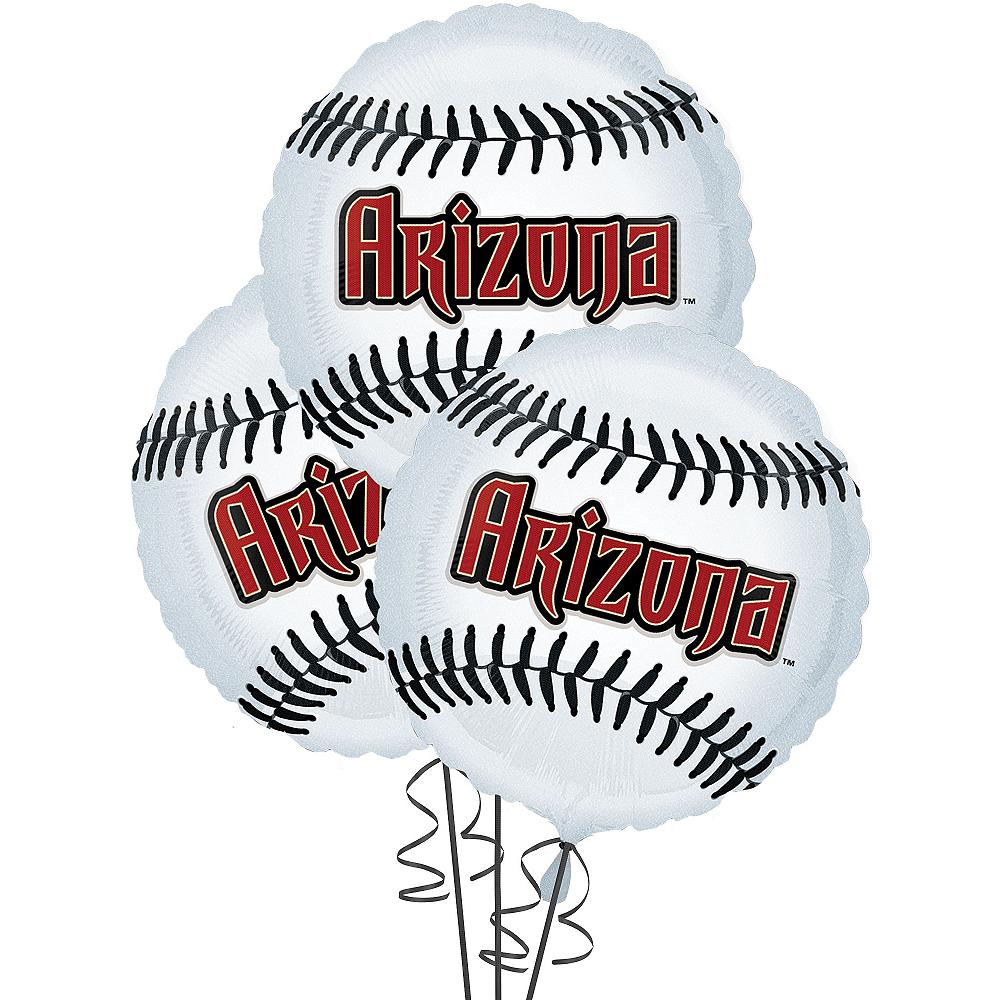 Arizona Diamondbacks Balloons 3ct - Baseball Image #1