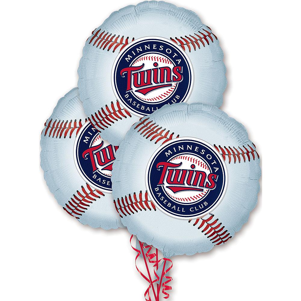 Minnesota Twins Balloons 3ct - Baseball Image #1