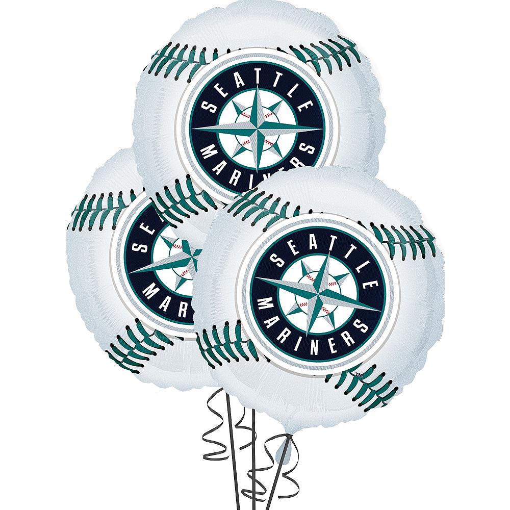 Seattle Mariners Balloons 3ct - Baseball Image #1