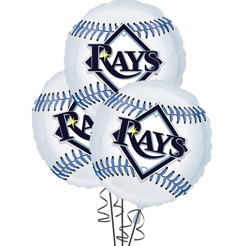 Tampa Bay Rays Balloons 3ct - Baseball Image #1