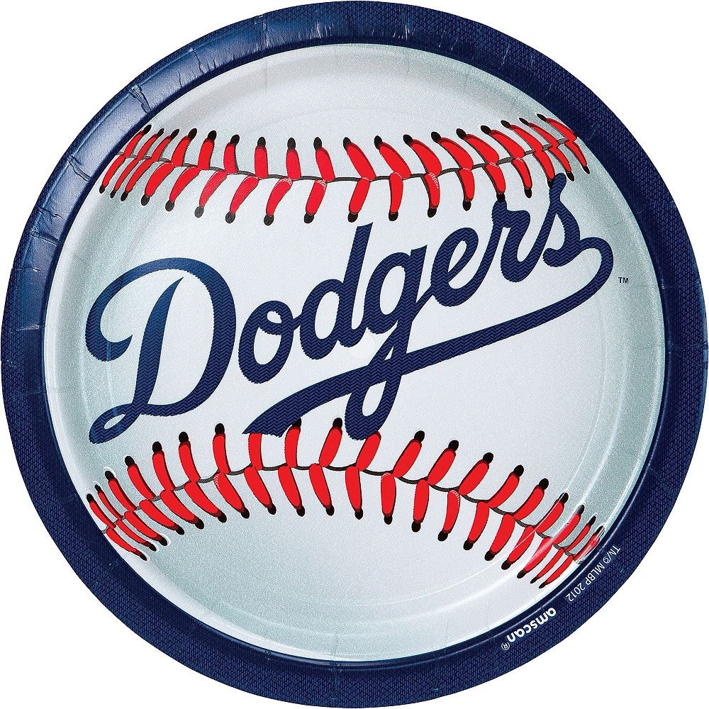 Los Angeles Dodgers Lunch Plates 18ct Image #1