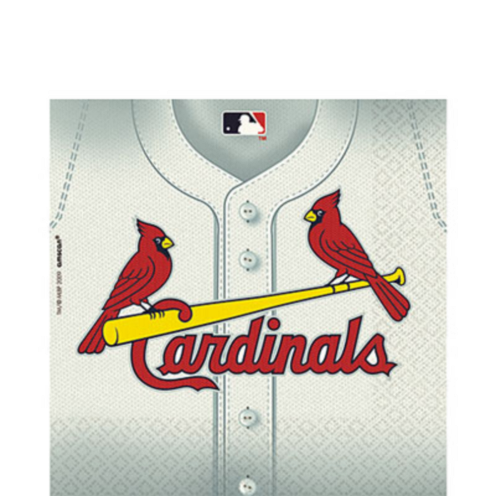 Nav Item for St. Louis Cardinals Lunch Napkins 36ct Image #1