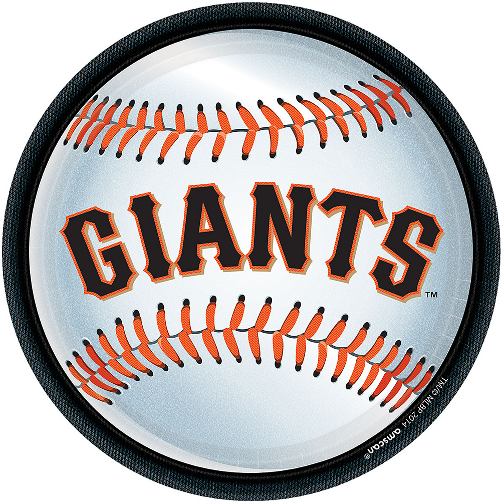 San Francisco Giants Lunch Plates 18ct Image #1