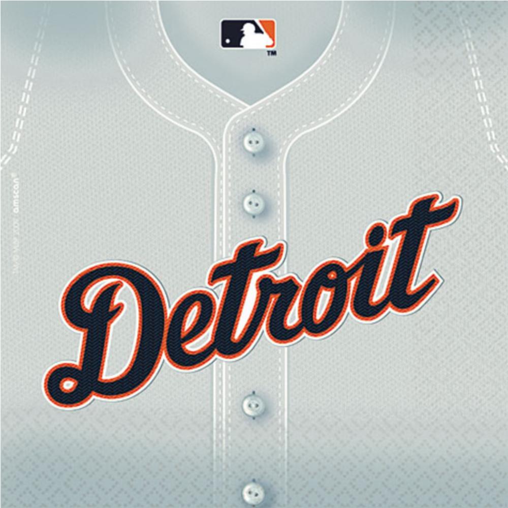 Detroit Tigers Lunch Napkins 36ct Image #1