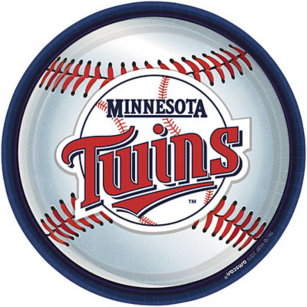Minnesota Twins Lunch Plates 18ct Image #1