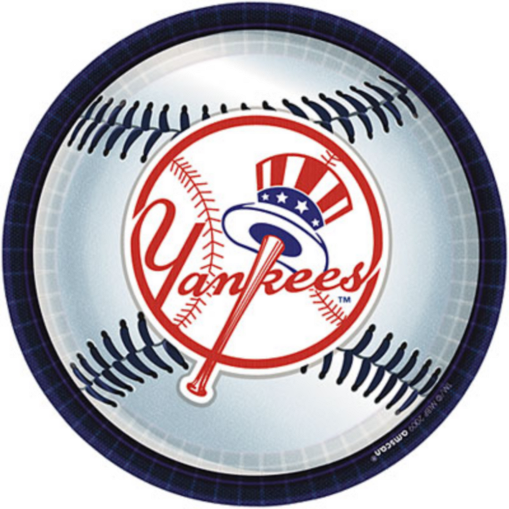 New York Yankees Lunch Plates 18ct Image #1