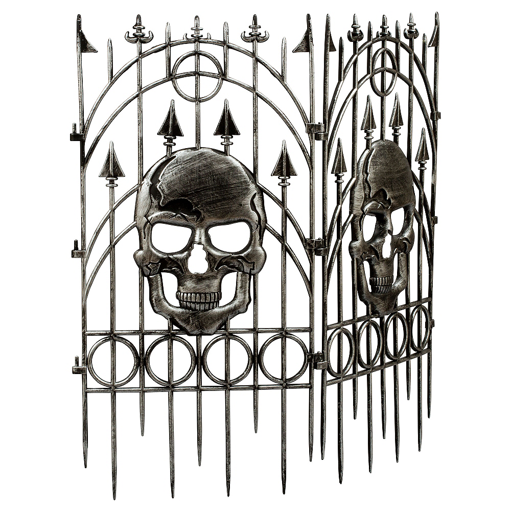 Silver Skull Fence Image #1