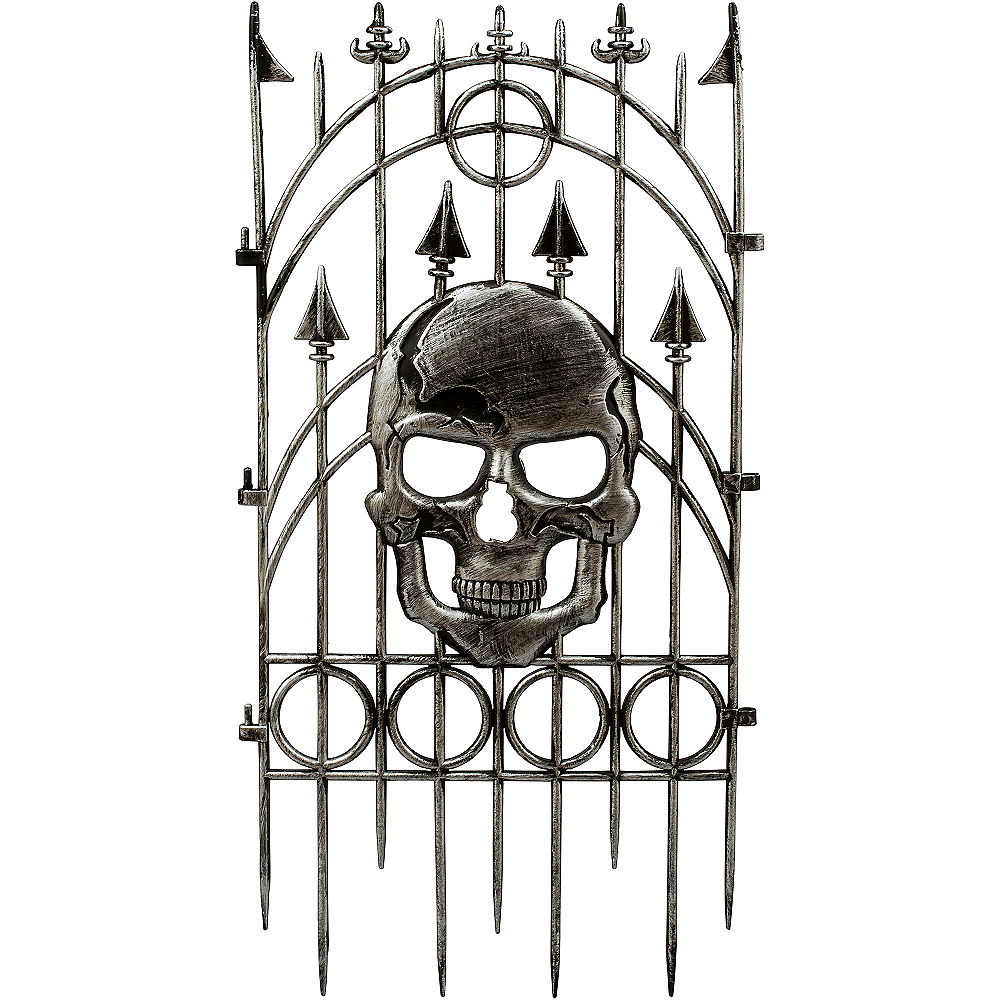 Silver Skull Fence Image #2
