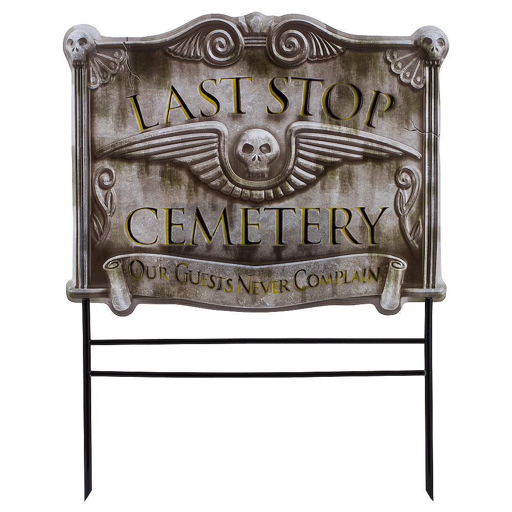 Cemetery Yard Sign Image #1