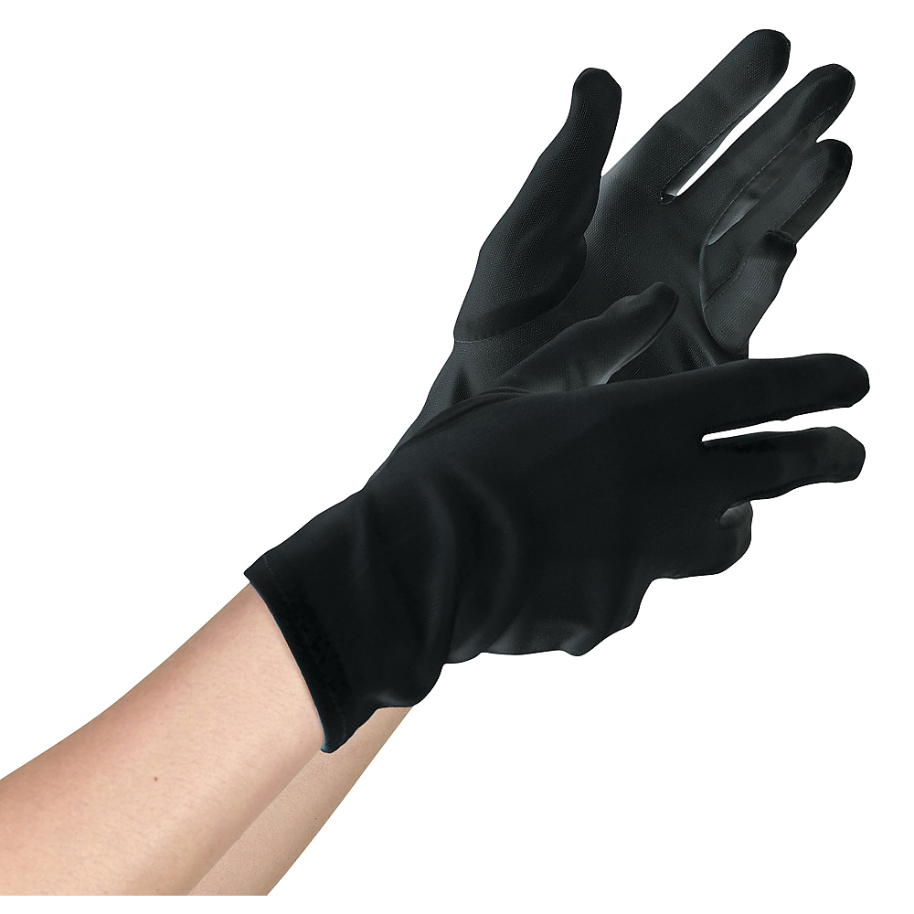 Womens Short Black Gloves Image #1