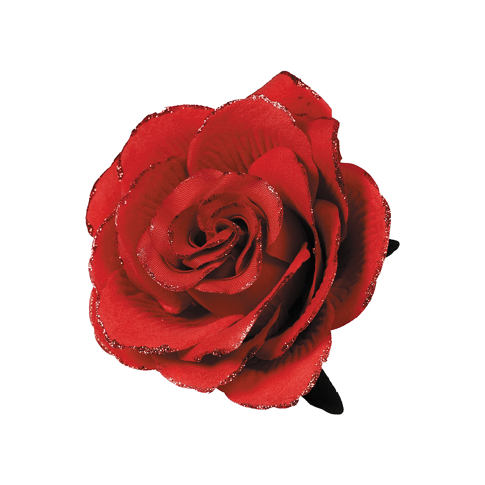 Gothic Red Flower Hair Clip Image #1
