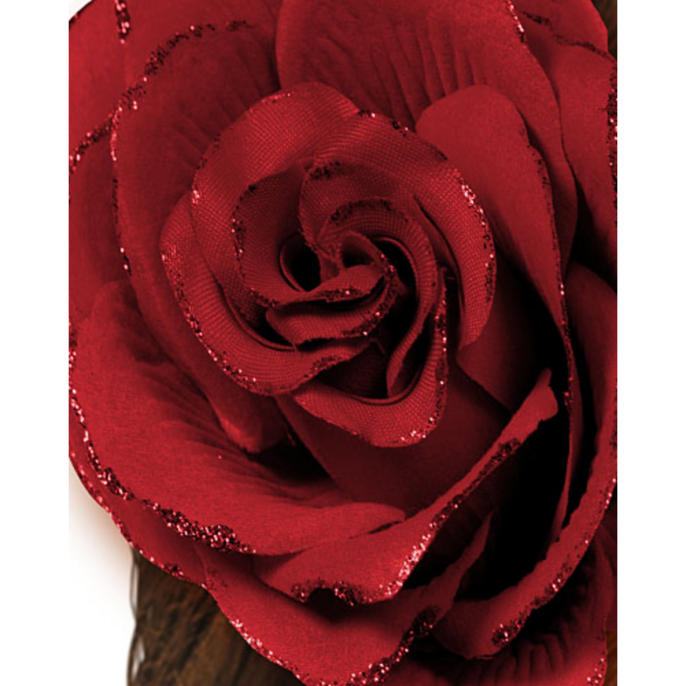 Gothic Red Flower Hair Clip Image #2