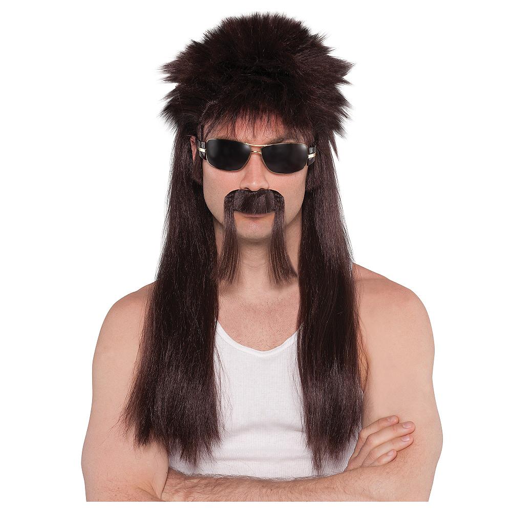 9eeb8fc9c62f74 Mullet Wig & Moustache Image #1