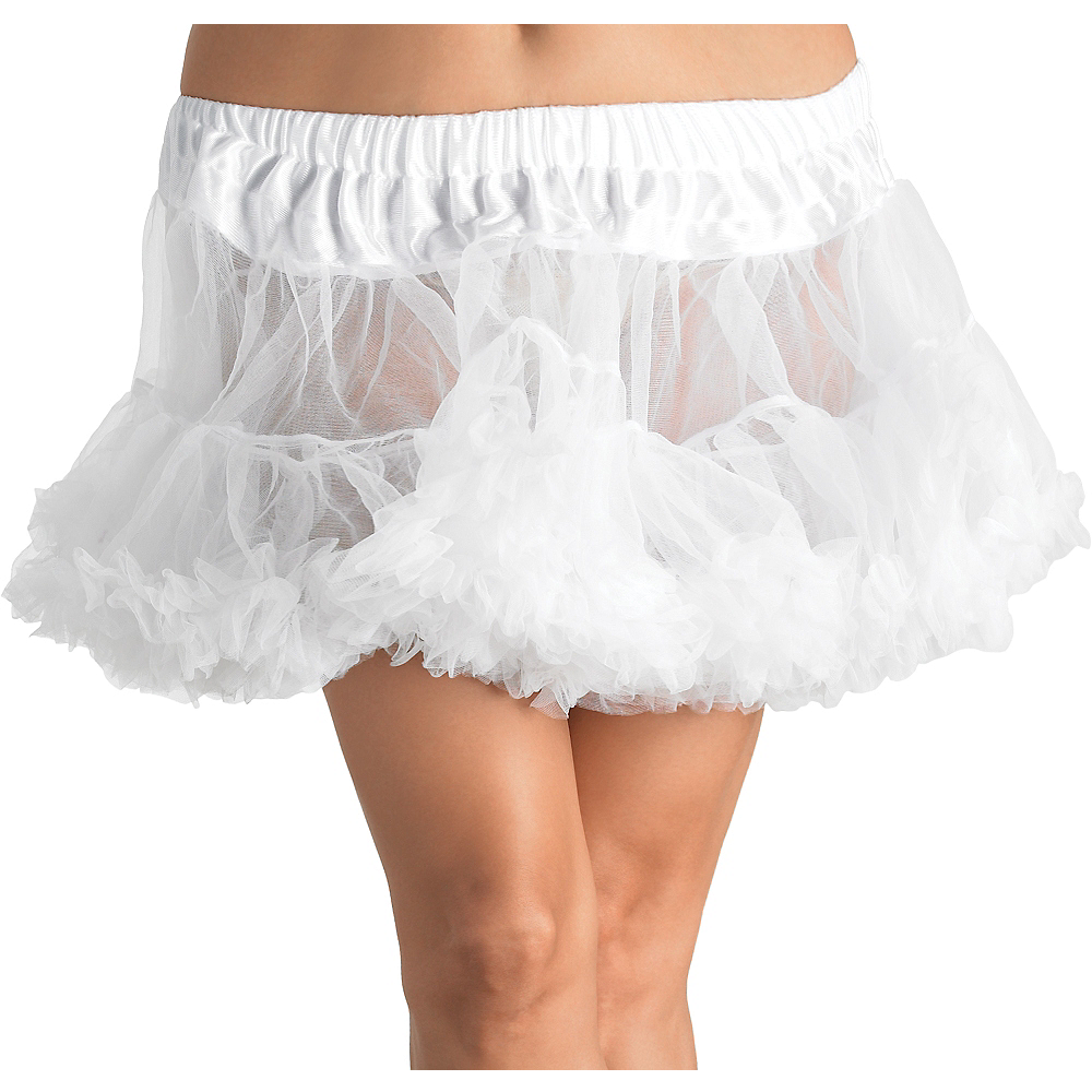 Nav Item for Adult White Crinoline Petticoat Plus Size Image #1