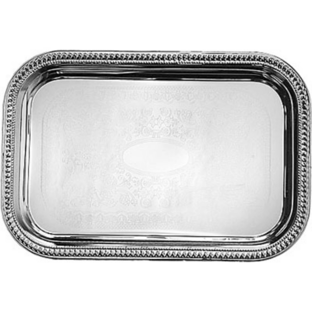 Chrome Rectangular Platter Image #1