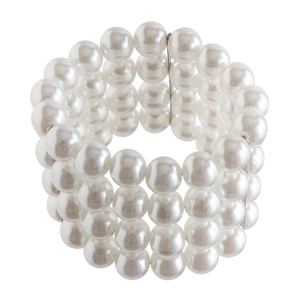 Multistrand Faux Pearl Bracelet Image #1
