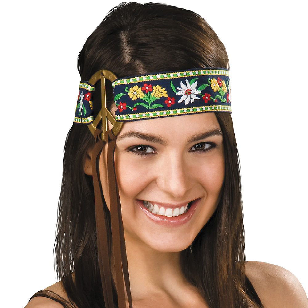 Nav Item for Peace Sign Hippie Headband Image #2