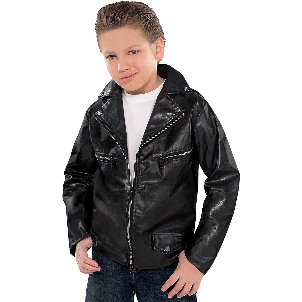 studded greaser jacket for boys party city