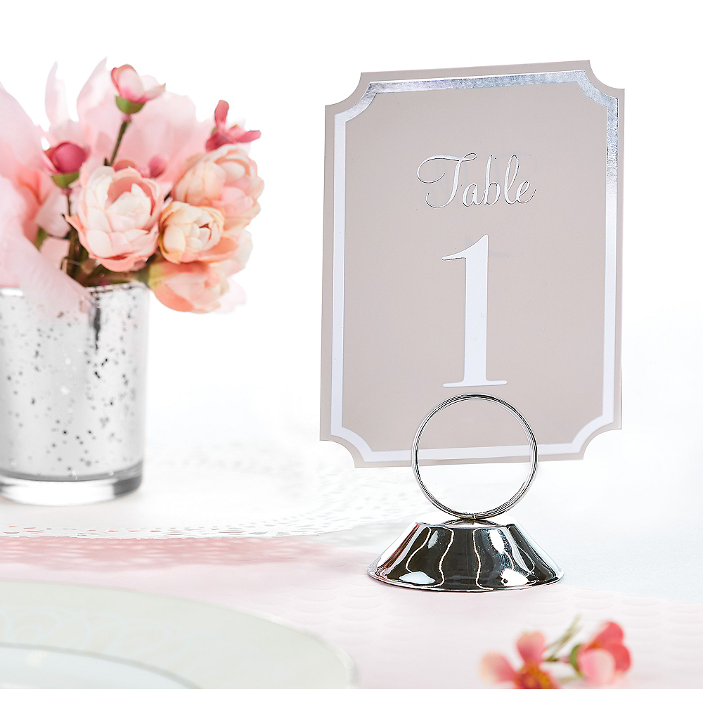 Silver Place Card Holder Image #1