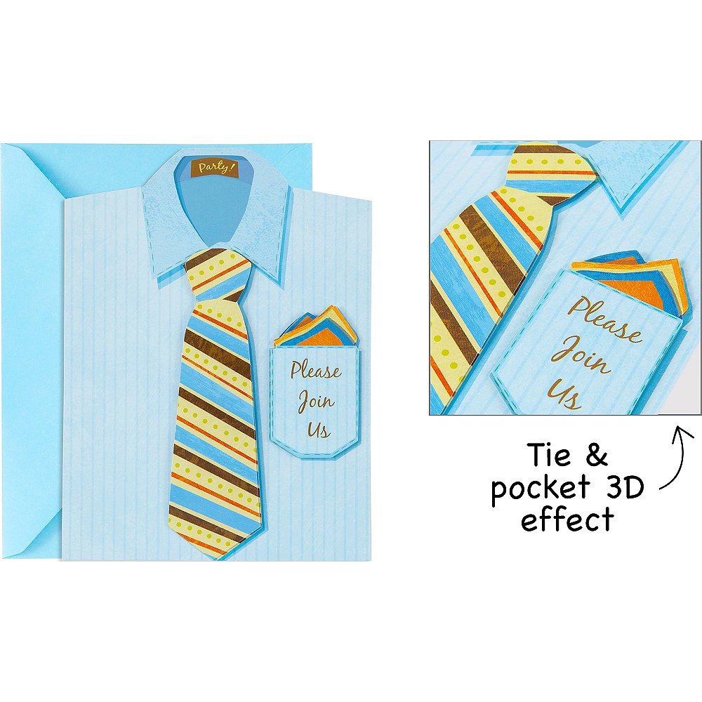 Premium Shirt & Tie Invitations 8ct Image #1